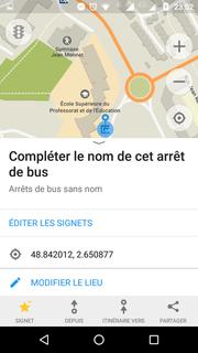 ajouter un nom sur un arrêt de bus, c'est très facile