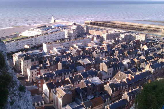 image de la vue en haut de Tréport